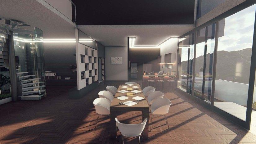 intérieur 3D salle à manger madagascar by trano 3D