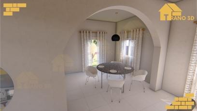 Maison 3D intérieur Madagascar