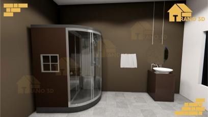 Maquette 3D intérieur Madagascar